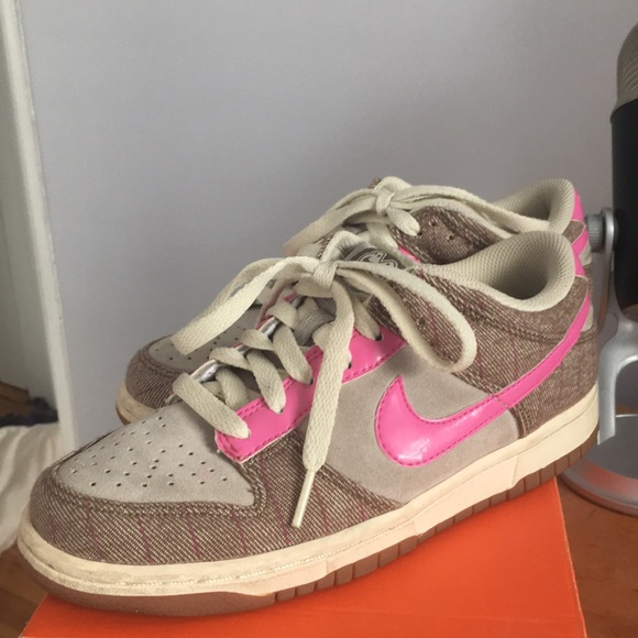 united kingdom big discount official store Rare Nike SB 6.0 Dunks Low Pink and Brown tweed